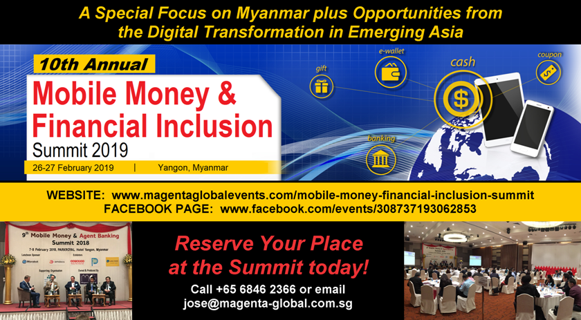 10th Mobile Money & Financial Inclusion Summit 2019 | CCI France Myanmar
