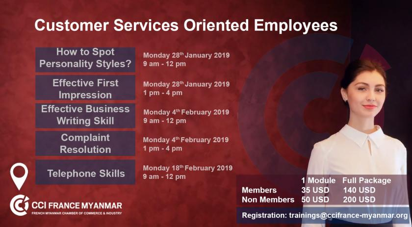 Customer Services Oriented Employees Training   CCI France Myanmar